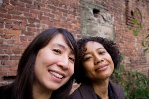 V & J smiling